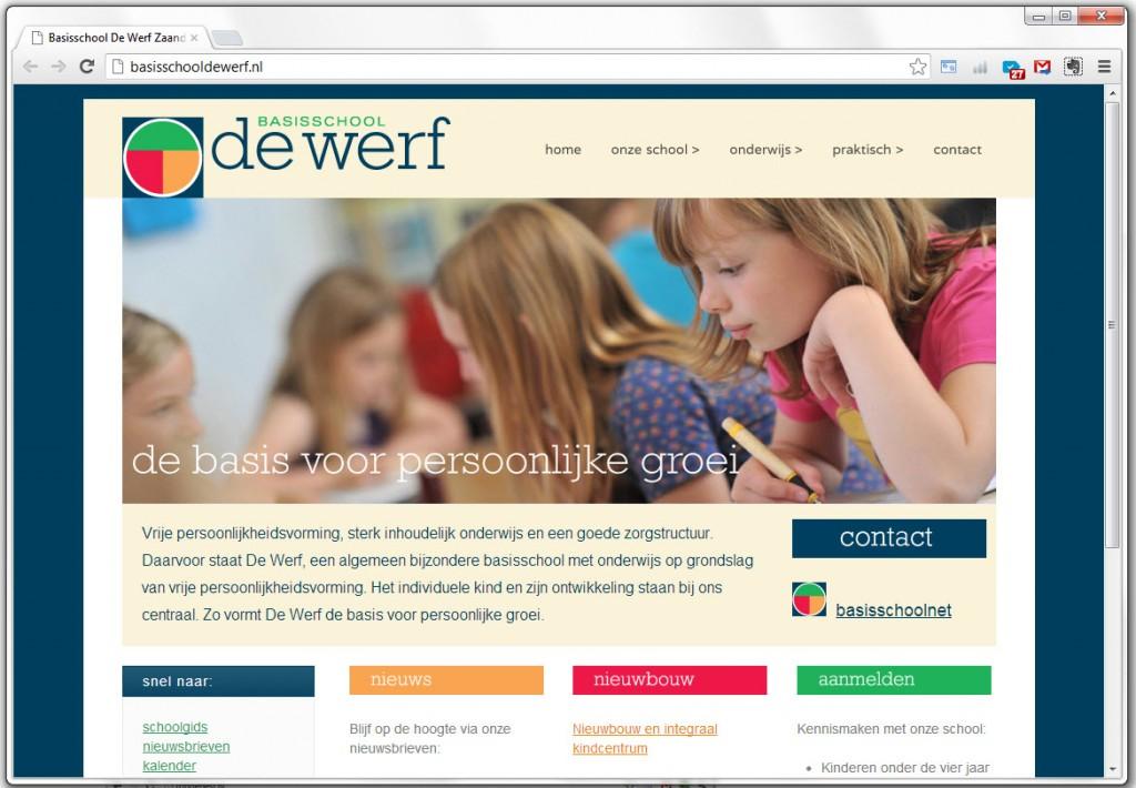 Basischool De Werf homepage