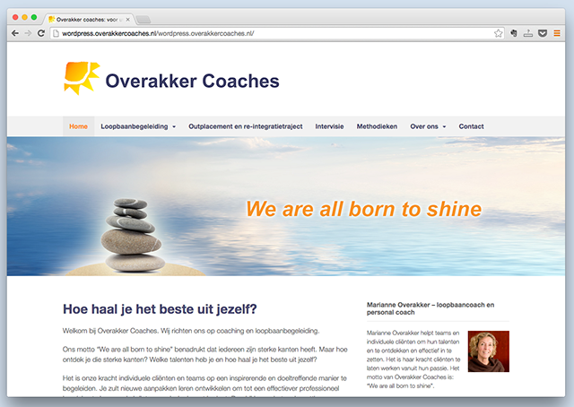WordPress-website-Overakker-coaches