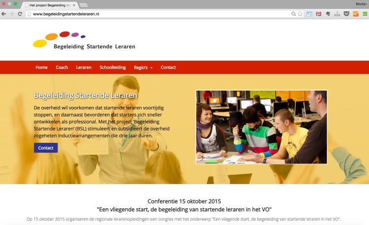 wordpress website begeleiding startende leraren