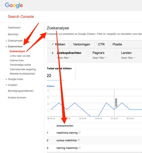 Zoekanalyse Google Search Console