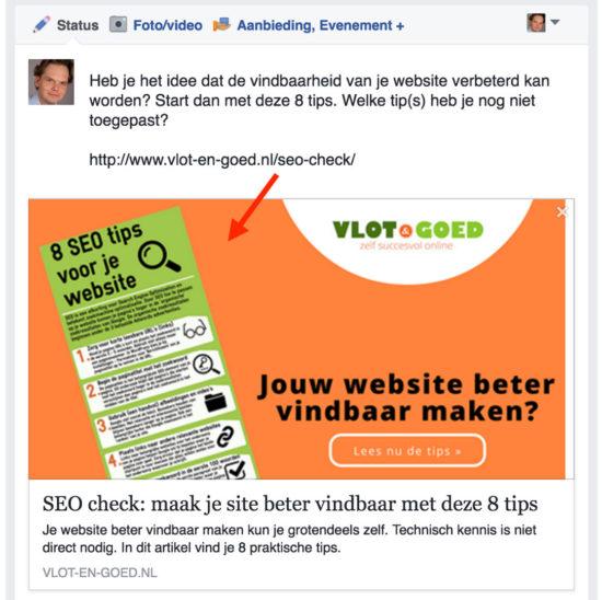 Facebook afbeeldingen WordPress