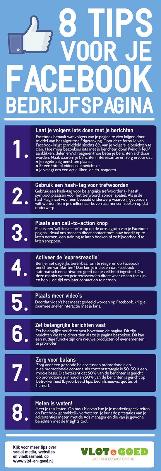 Infographic Facebook Bedrijfspagina
