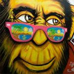 aap-muurschildering