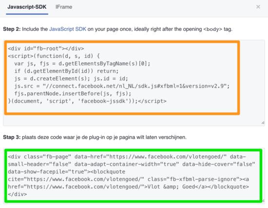 Facebook WordPress Page Plugin HTML