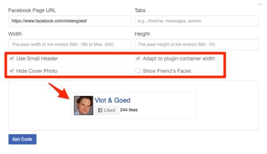 Facebook WordPress Plugin Like Box Instellingen