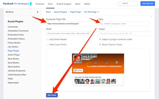 Facebook WordPress Plugin Like Box Get Code