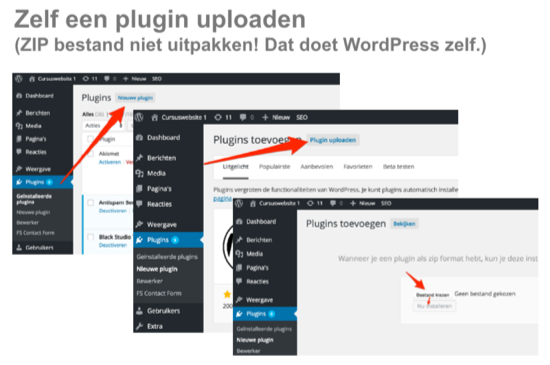 WordPress plugin uploaden