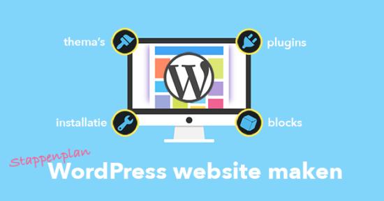 wordpress website maken stappenplan